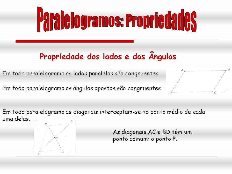 Paralelogramos: Propriedades