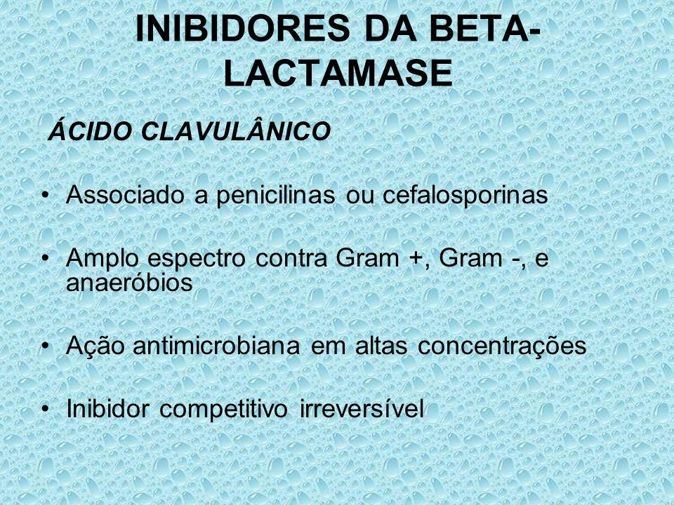 INIBIDORES DA BETA-LACTAMASE