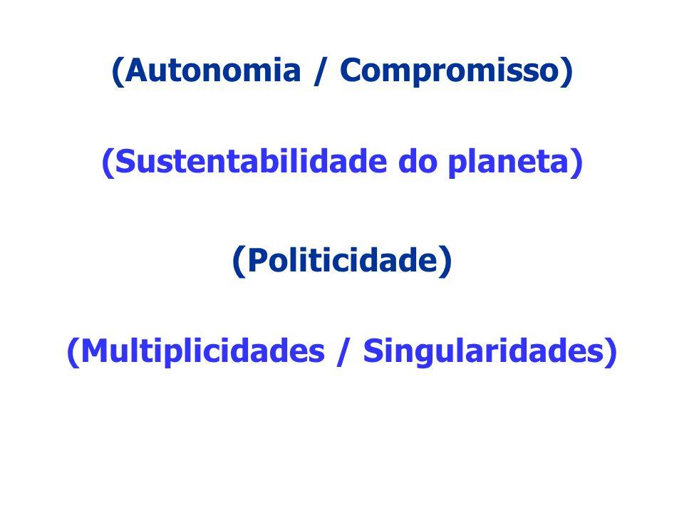 (Autonomia / Compromisso) (Multiplicidades / Singularidades)