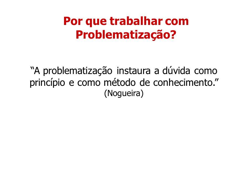 Por que trabalhar com Problematização