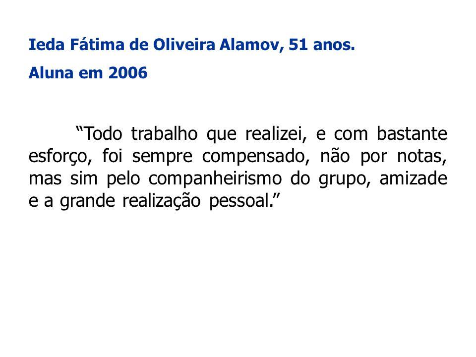 Ieda Fátima de Oliveira Alamov, 51 anos.