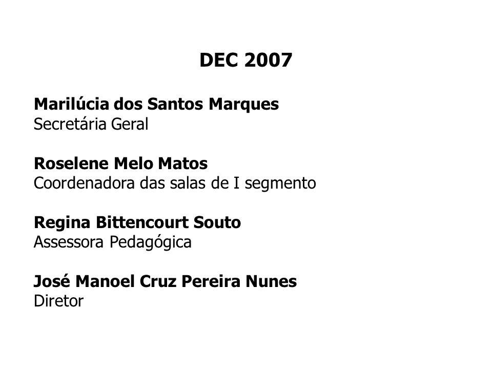 DEC 2007 Marilúcia dos Santos Marques Secretária Geral