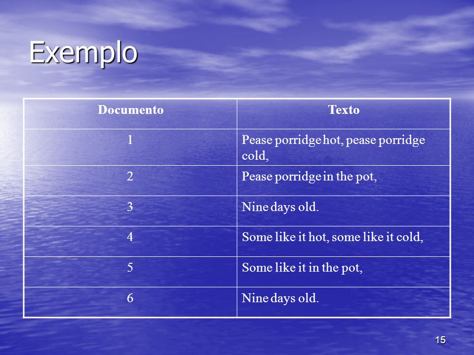 Exemplo Documento Texto 1 Pease porridge hot, pease porridge cold, 2