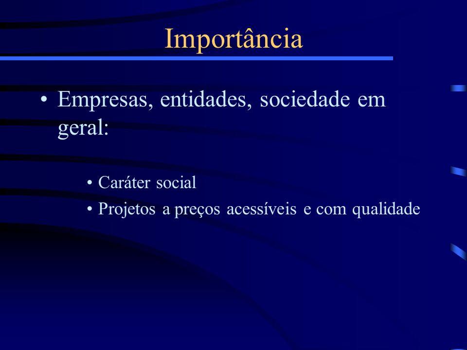 Importância Empresas, entidades, sociedade em geral: Caráter social