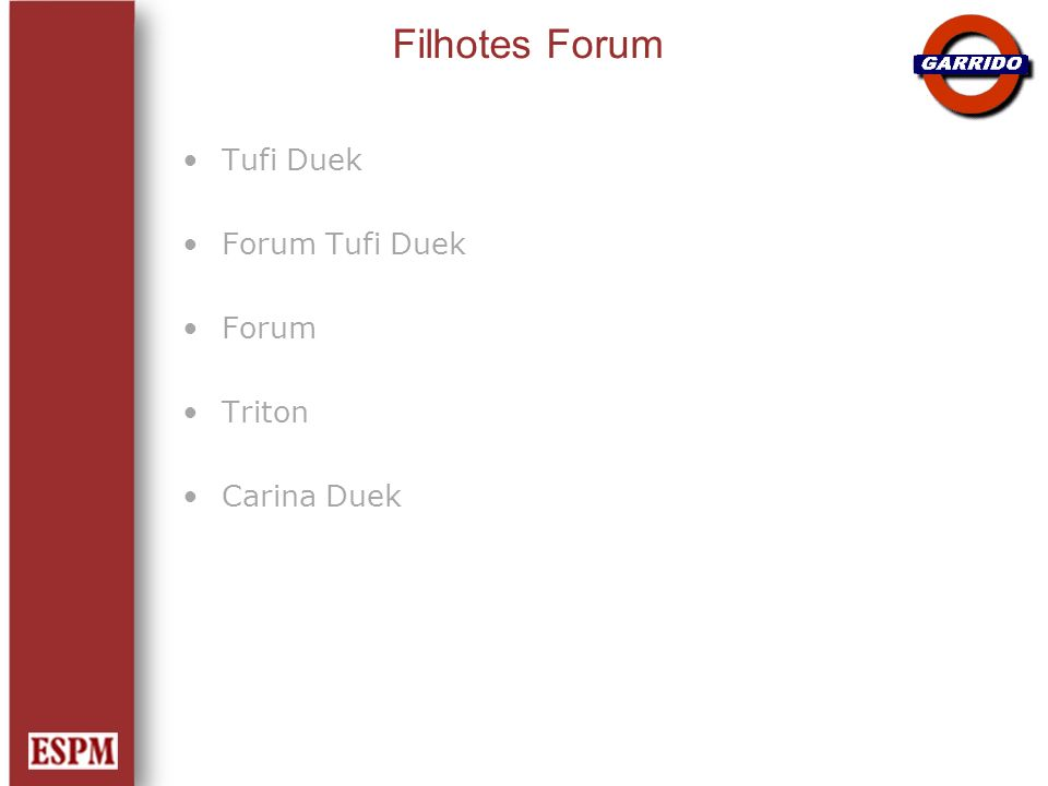 Filhotes Forum Tufi Duek Forum Tufi Duek Forum Triton Carina Duek