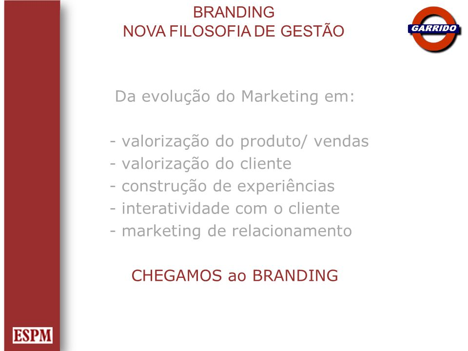 BRANDING NOVA FILOSOFIA DE GESTÃO