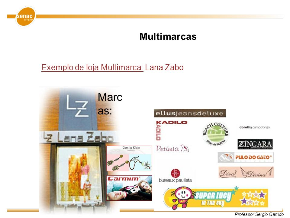 Multimarcas Exemplo de loja Multimarca: Lana Zabo Marcas: