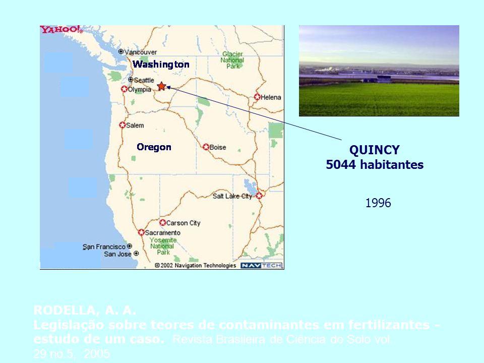 QUINCY 5044 habitantes. 1996. RODELLA, A. A.