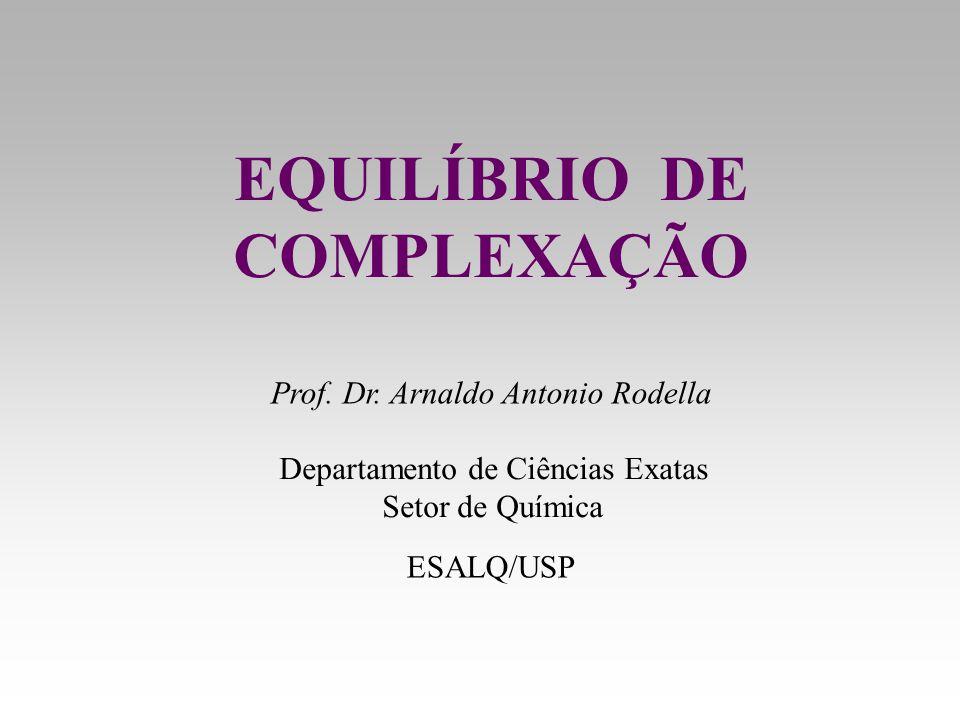 EQUILÍBRIO DE COMPLEXAÇÃO