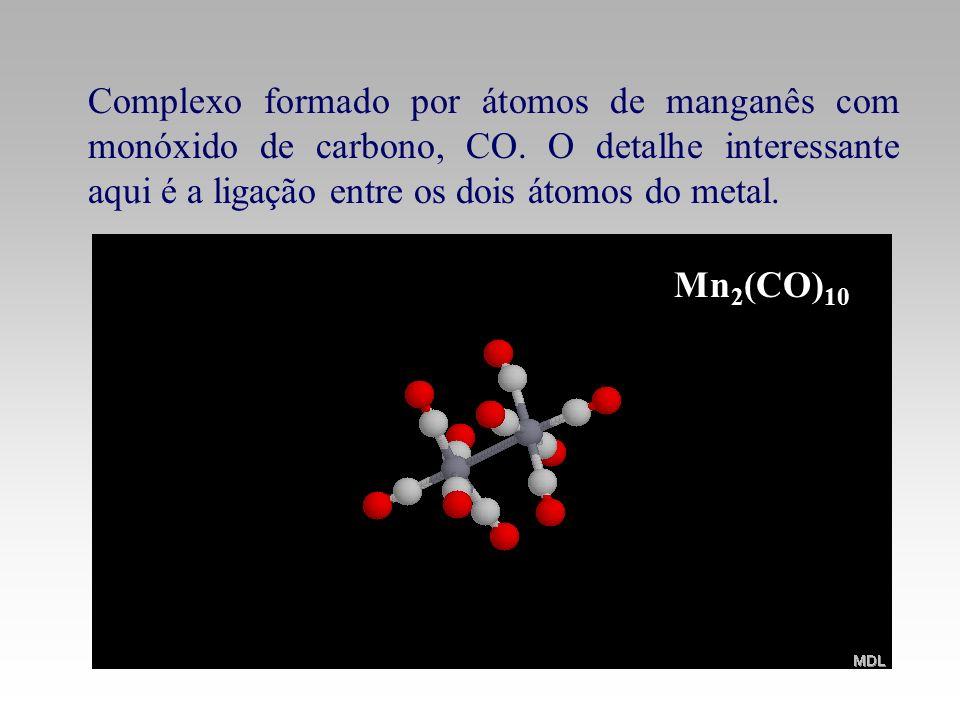 Complexo formado por átomos de manganês com monóxido de carbono, CO
