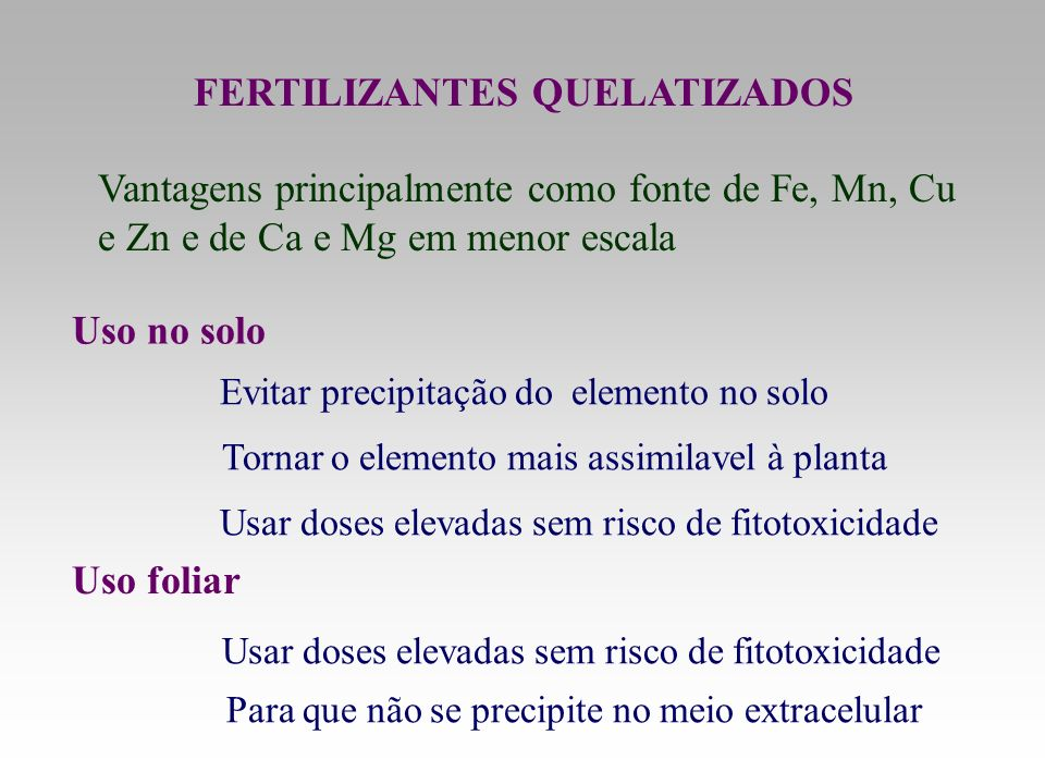 FERTILIZANTES QUELATIZADOS