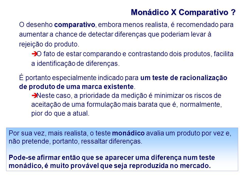 Monádico X Comparativo