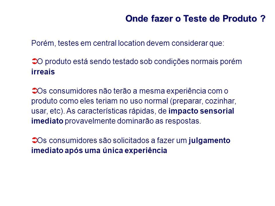 Onde fazer o Teste de Produto