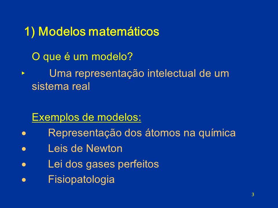 O que é um modelo 1) Modelos matemáticos