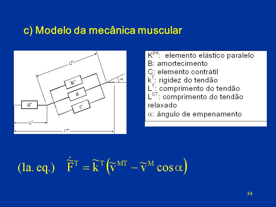 c) Modelo da mecânica muscular