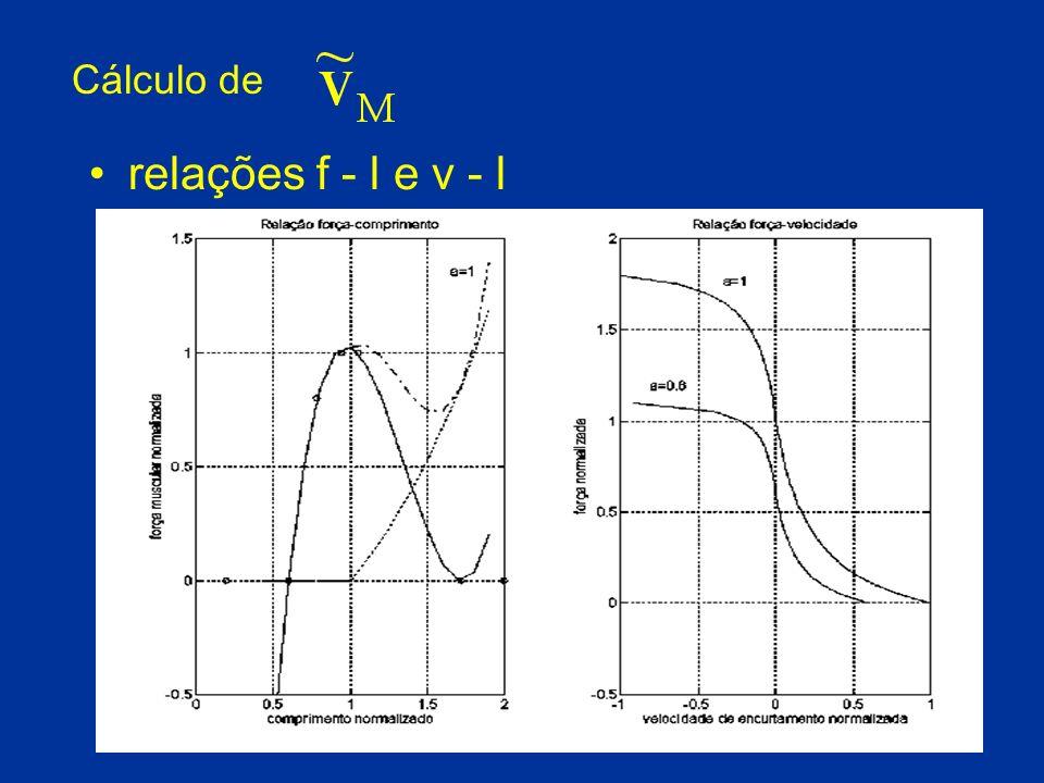 Cálculo de relações f - l e v - l