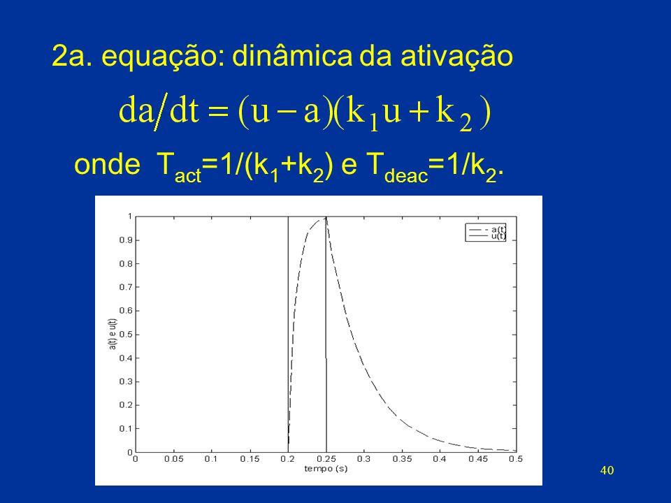 2a. equação: dinâmica da ativação