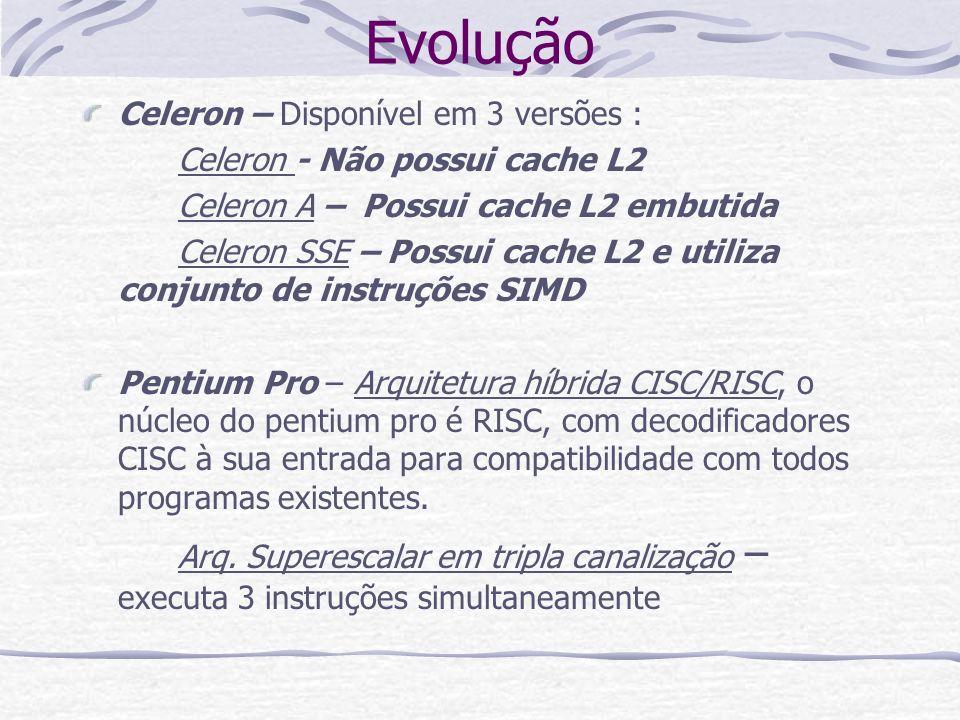 Evolução Celeron – Disponível em 3 versões :