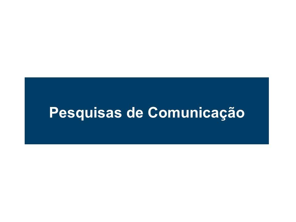 Pesquisas de Comunicação