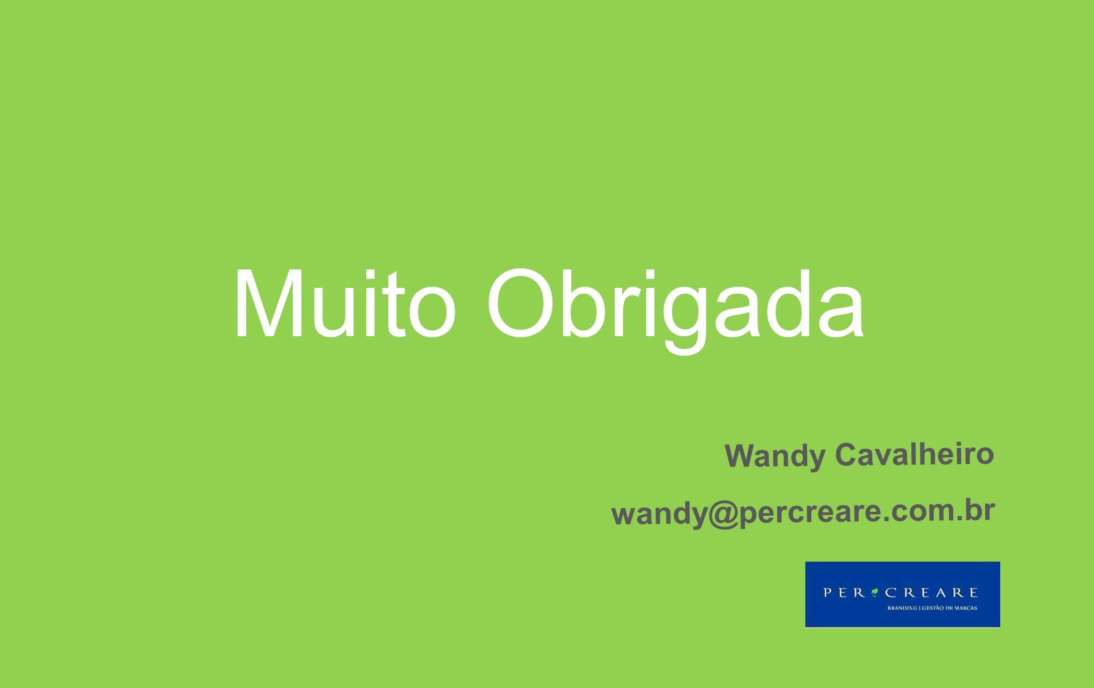 Muito Obrigada Wandy Cavalheiro wandy@percreare.com.br