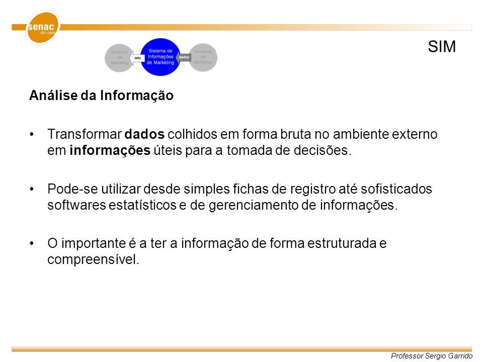 SIM Análise da Informação