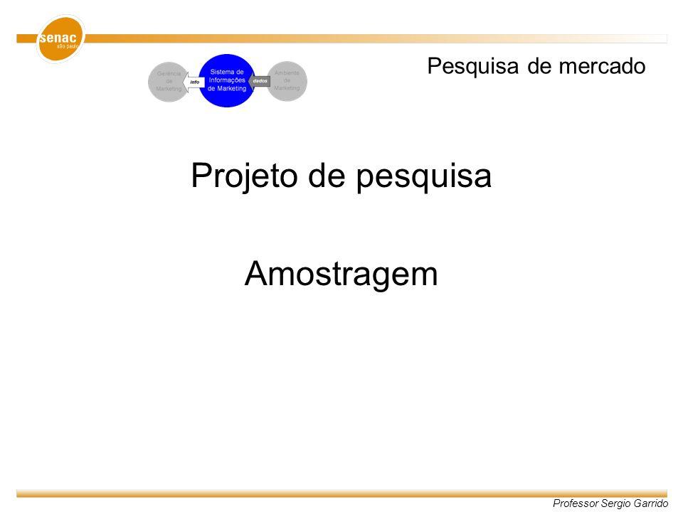 Pesquisa de mercado Projeto de pesquisa Amostragem