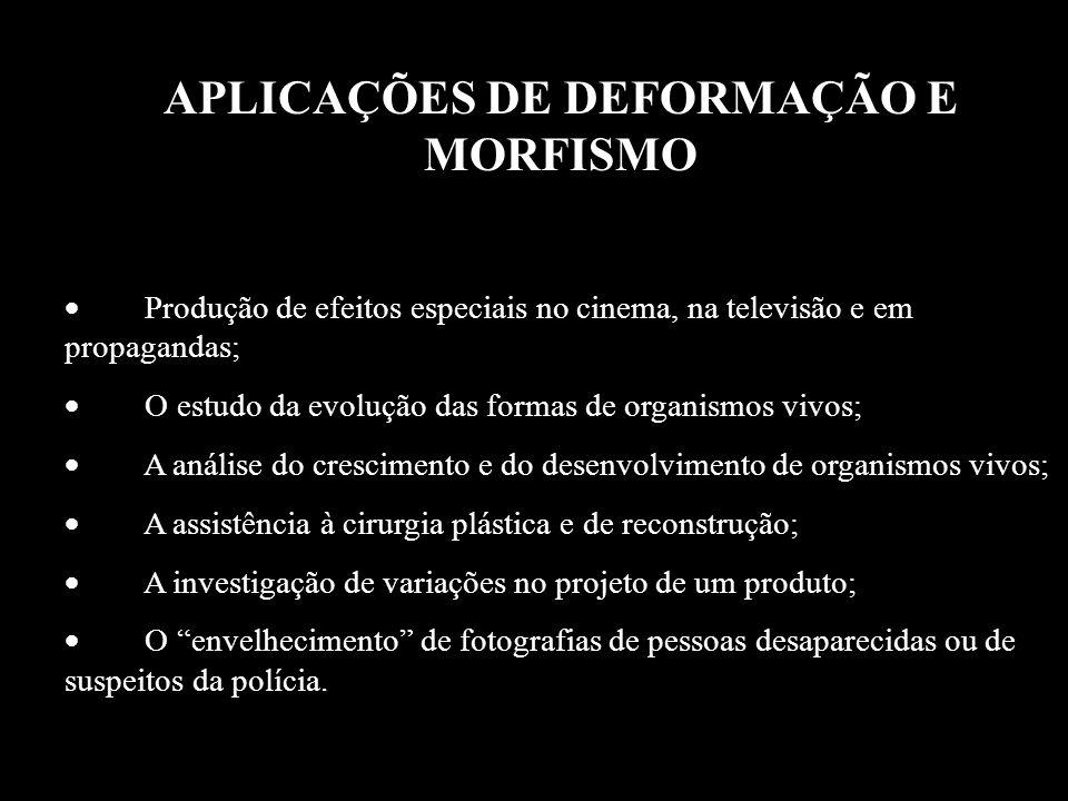 APLICAÇÕES DE DEFORMAÇÃO E MORFISMO