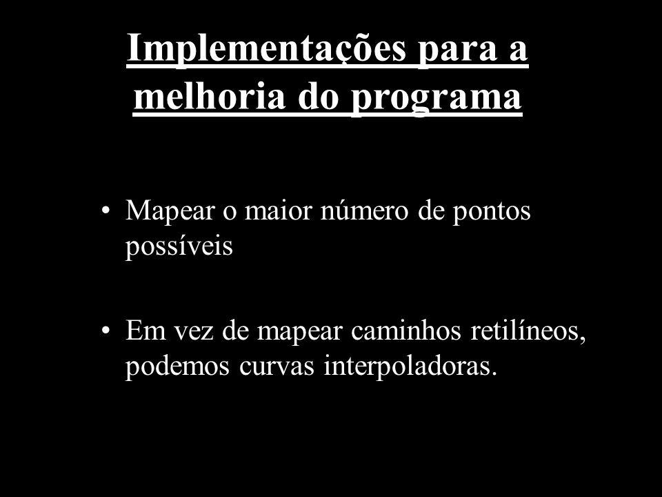 Implementações para a melhoria do programa