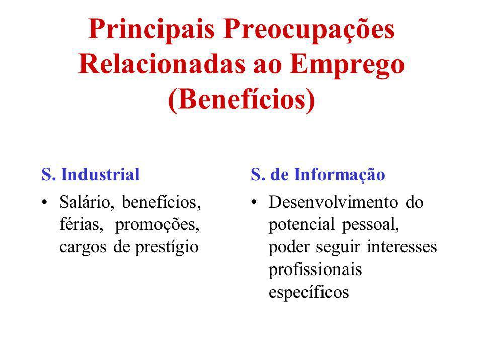 Principais Preocupações Relacionadas ao Emprego (Benefícios)