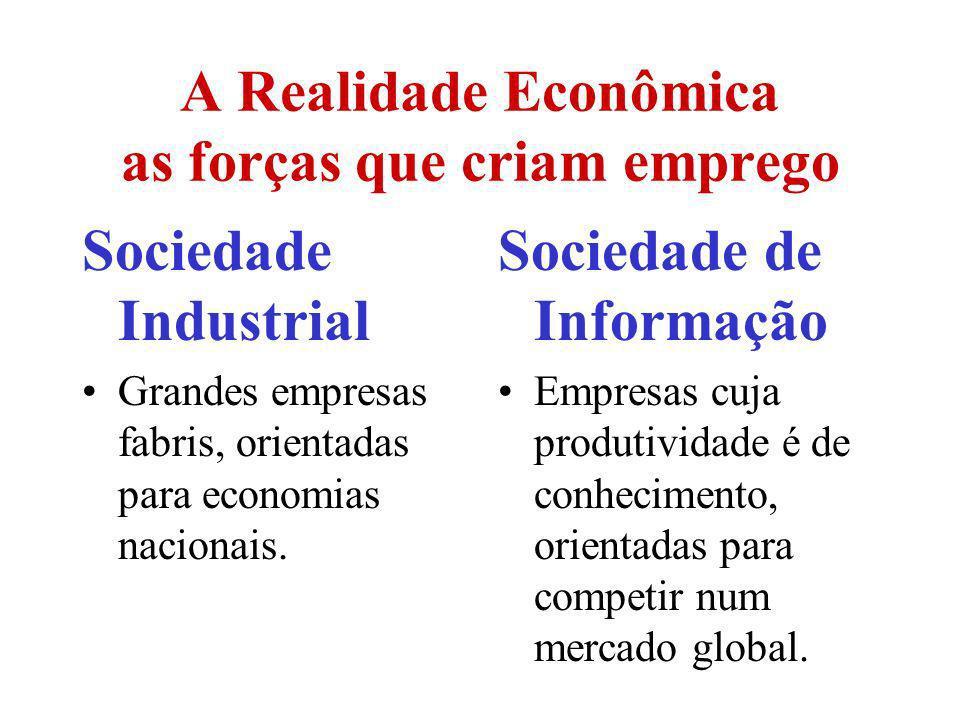 A Realidade Econômica as forças que criam emprego