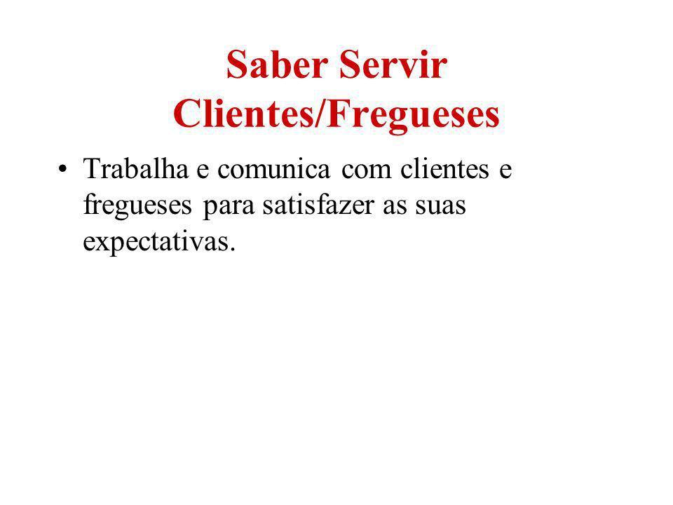 Saber Servir Clientes/Fregueses
