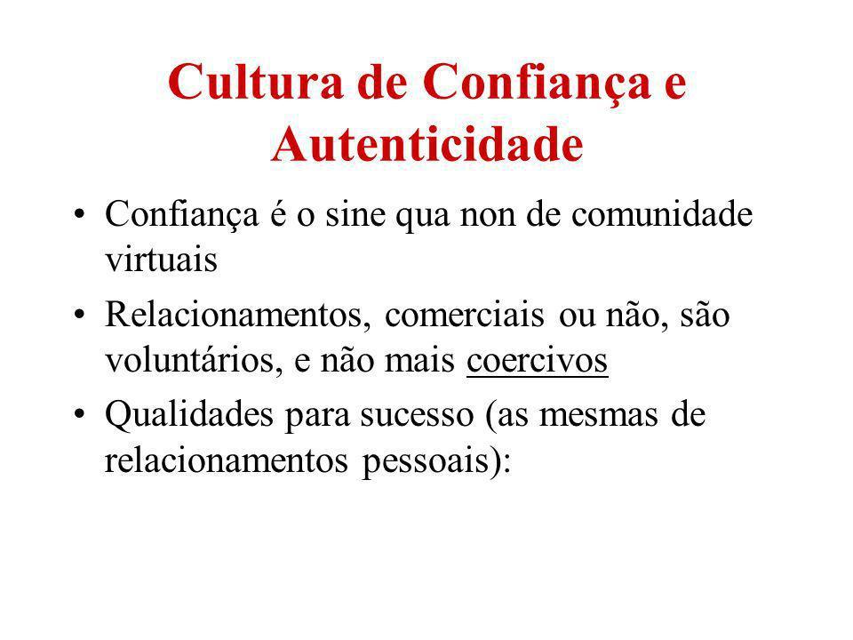Cultura de Confiança e Autenticidade