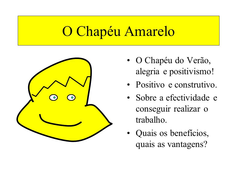 O Chapéu Amarelo O Chapéu do Verão, alegria e positivismo!