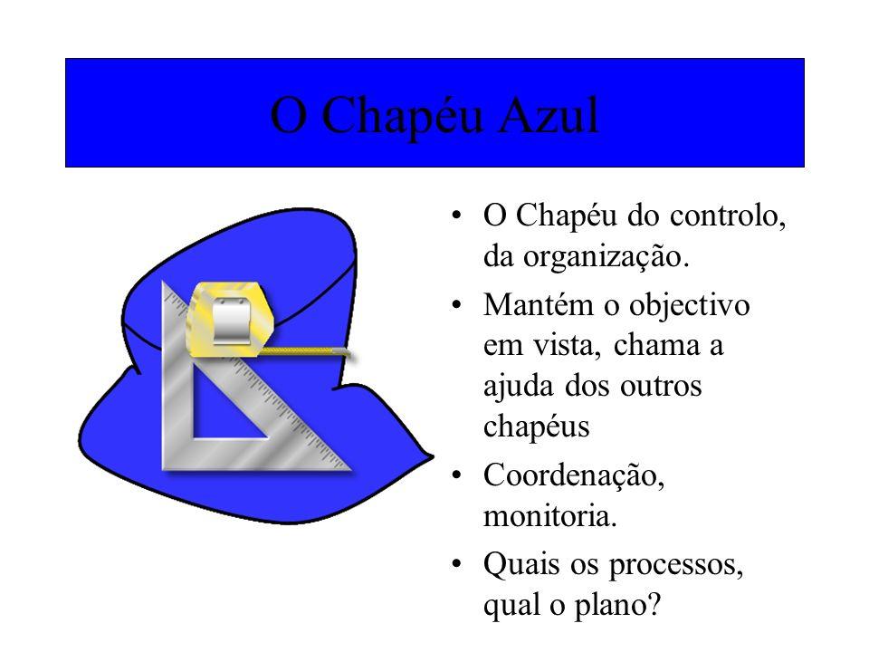 O Chapéu Azul O Chapéu do controlo, da organização.