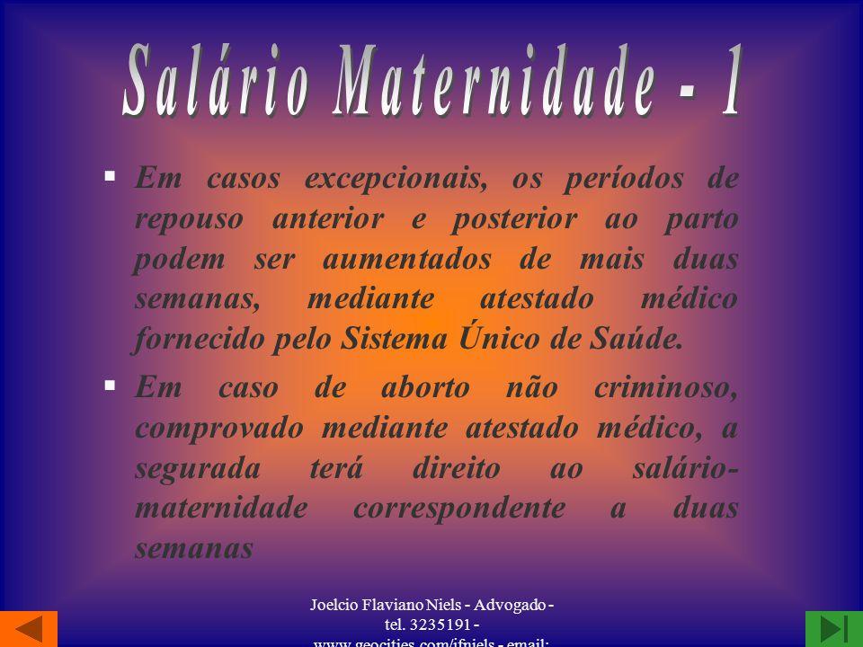 Salário Maternidade - 1