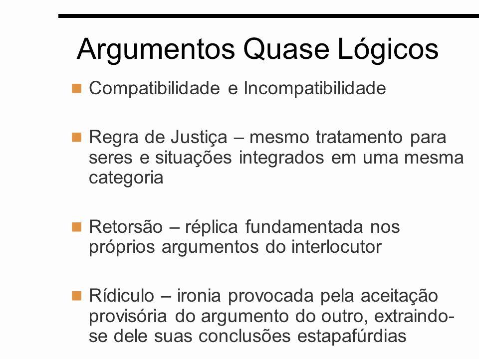 Argumentos Quase Lógicos