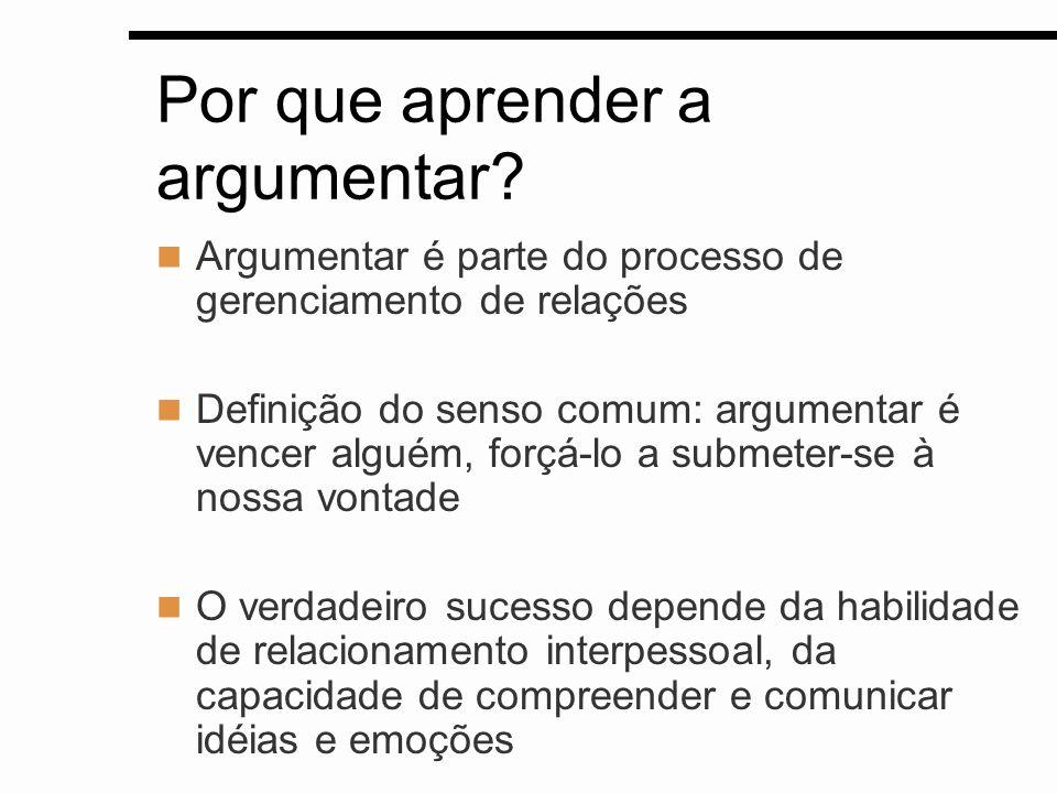 Por que aprender a argumentar