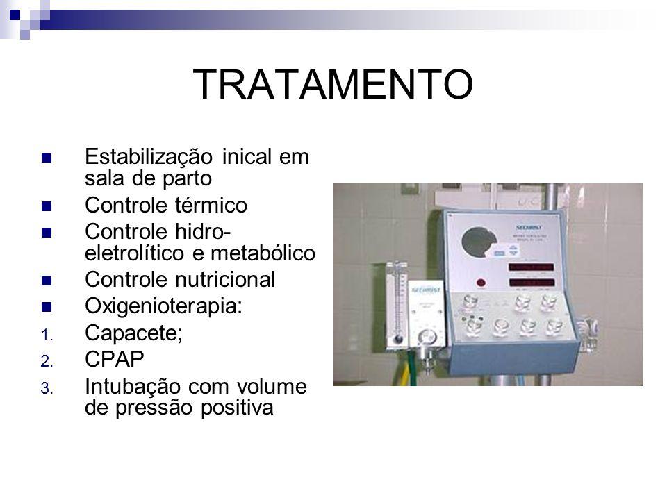 TRATAMENTO Estabilização inical em sala de parto Controle térmico