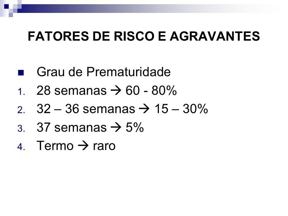 FATORES DE RISCO E AGRAVANTES