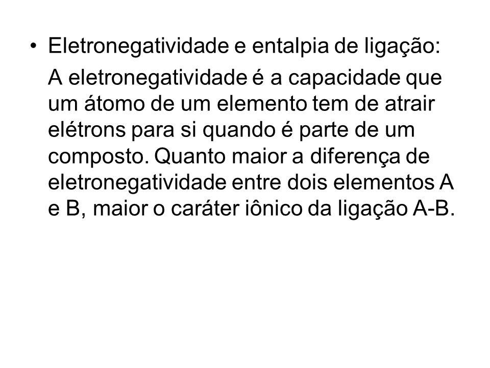 Eletronegatividade e entalpia de ligação:
