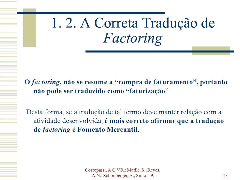 1. 2. A Correta Tradução de Factoring