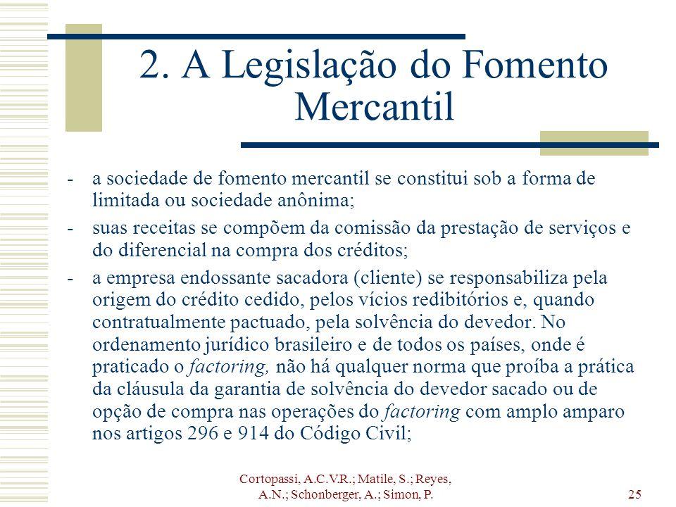2. A Legislação do Fomento Mercantil