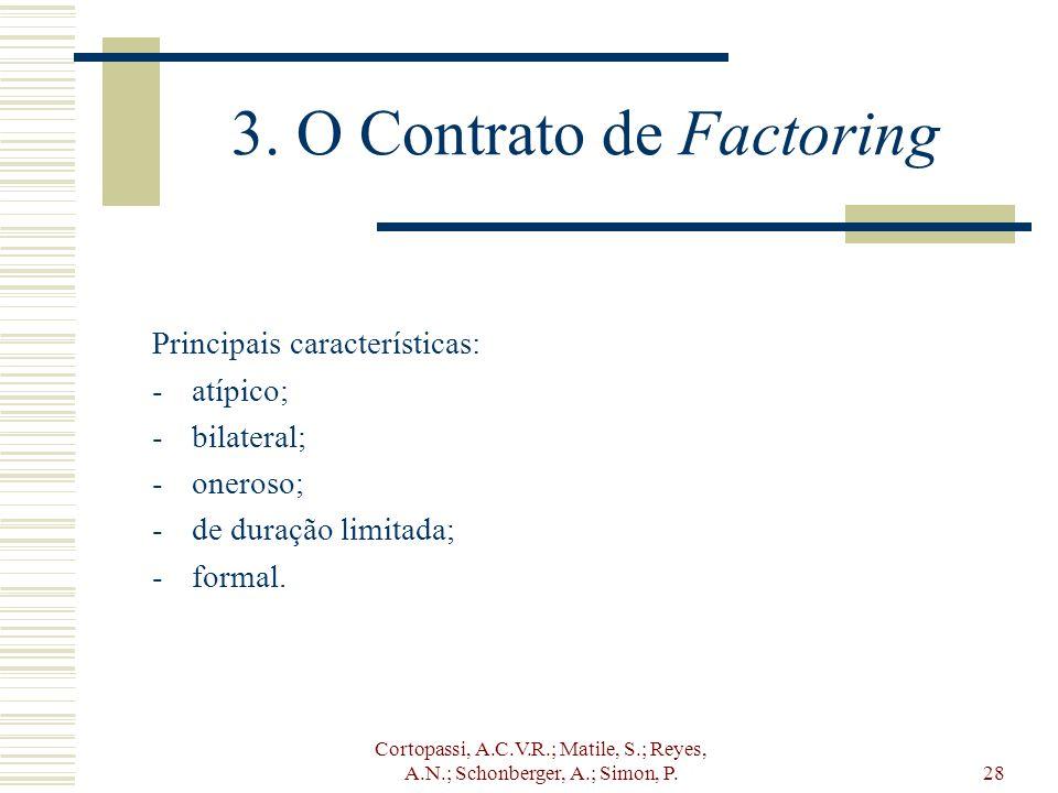 3. O Contrato de Factoring