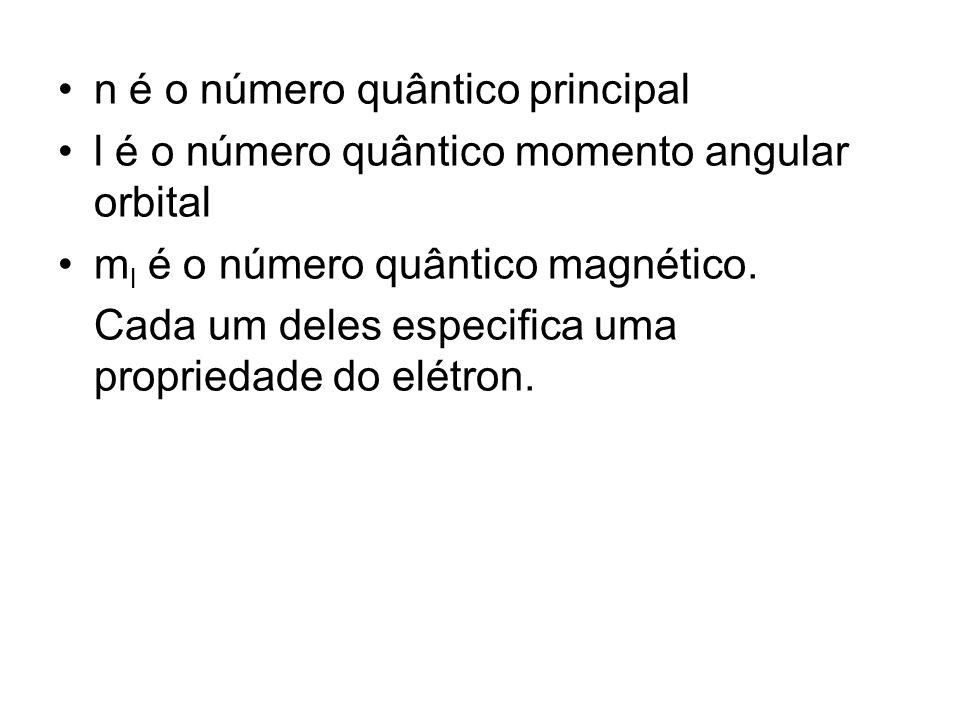 n é o número quântico principal