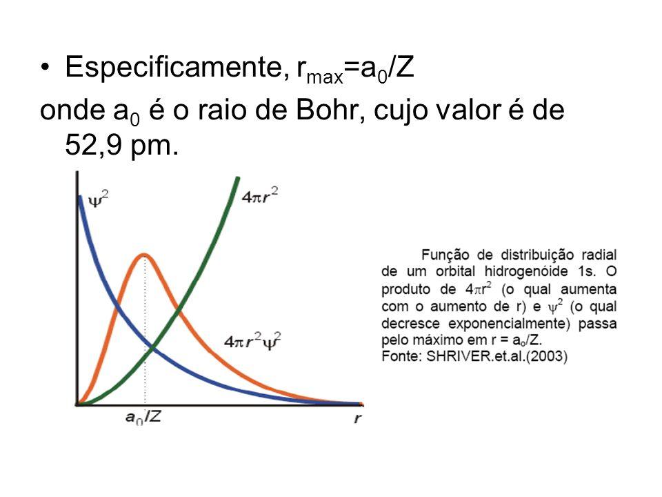 Especificamente, rmax=a0/Z