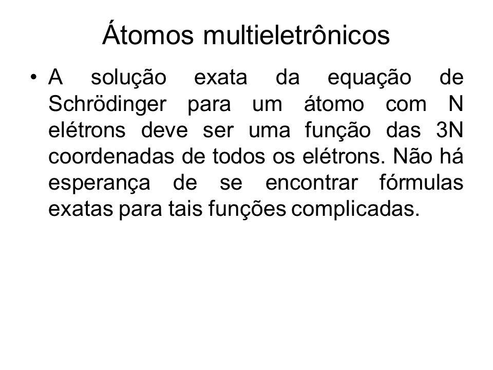 Átomos multieletrônicos