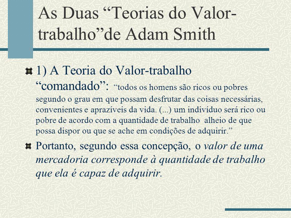 As Duas Teorias do Valor-trabalho de Adam Smith