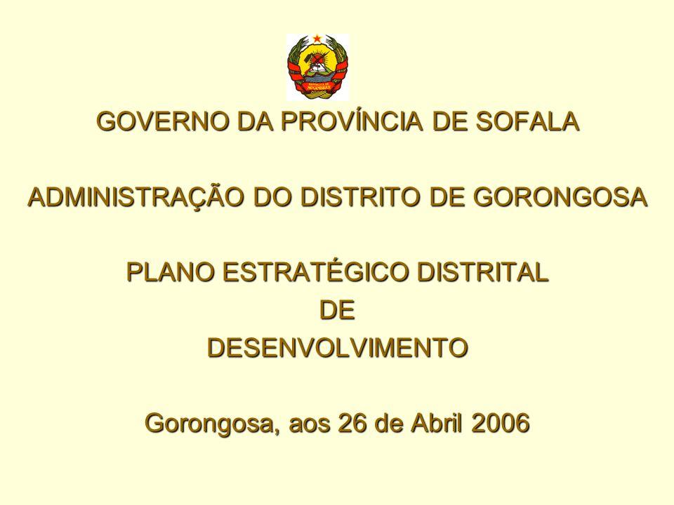 GOVERNO DA PROVÍNCIA DE SOFALA ADMINISTRAÇÃO DO DISTRITO DE GORONGOSA