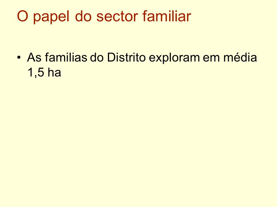 O papel do sector familiar
