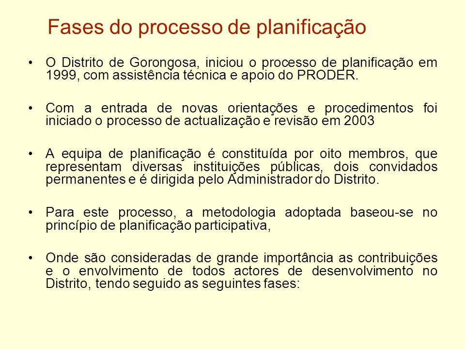 Fases do processo de planificação